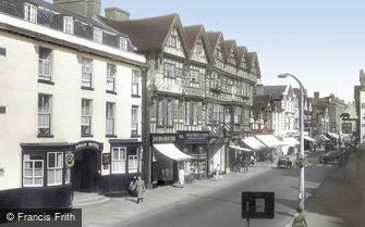 Stafford, Swan Hotel and Ancient High House 1957