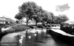 Stafford, The River Sow c.1955
