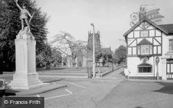 War Memorial And St Mary's Church c.1965, Stafford