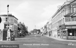 Staines, Clarence Street c.1955
