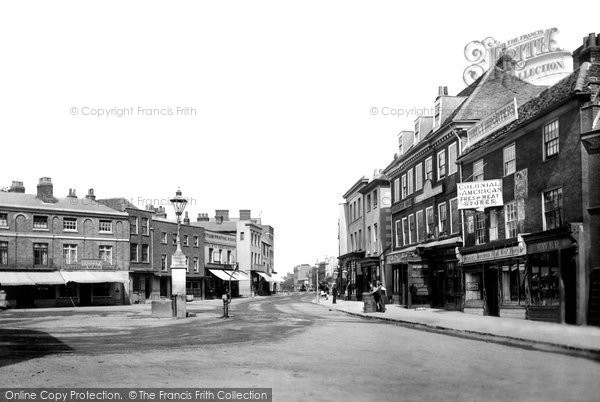 High Street, Staines, 1895. Reproduced courtesy of The Francis Frith Collection