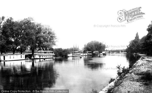 Photo of Staines, Houseboat Reach 1895