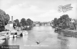 Staines, River Thames c.1950