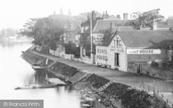 Staines, Swan Hotel Boat House 1890