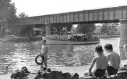 Staines, the River Thames c1955