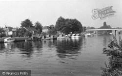 Staines, The River Thames c.1960