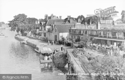 Staines, The Thames From The Bridge c.1955