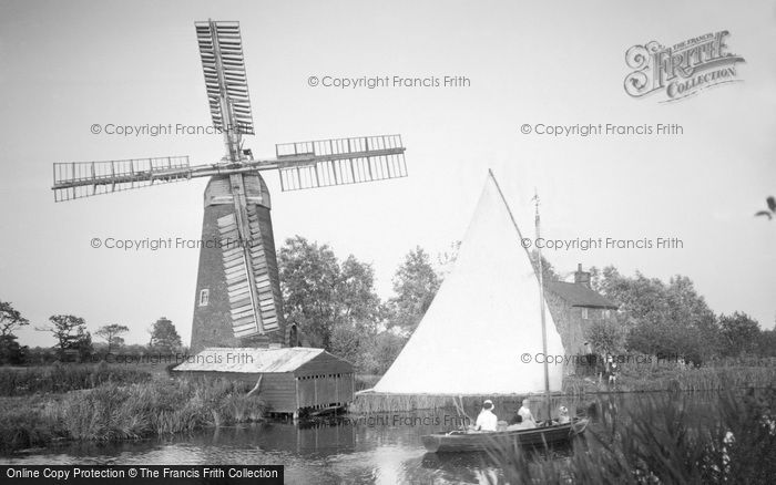 Stalham,Hunsett Mill c1955,Norfolk