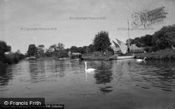 Stalham, The River Ant At Wayford Bridge 1956