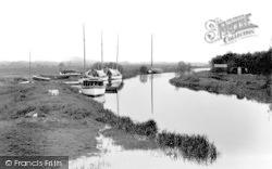 Stalham, The River, Wayford Bridge c.1931