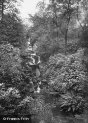 Stamford Park Waterfall c.1935, Stalybridge