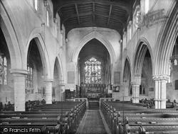 Stamford, All Saints' Church, Interior 1922