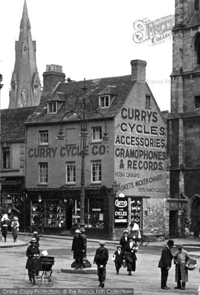 Photo of Stamford, Curry Cycle Co, Market Place 1922, ref. 72298v