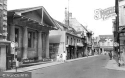 Library And High Street c.1960, Stamford