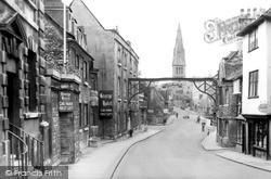St Mary's Hill From George Hotel c.1955, Stamford