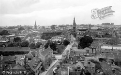 View From St Martin's Church Tower 1922, Stamford