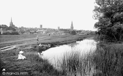 View From The  Water Meadows 1922, Stamford