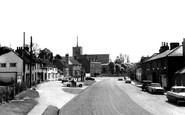 Standon, High Street and St Mary's Church c1965
