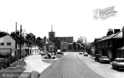 High Street And St Mary's Church c.1965, Standon