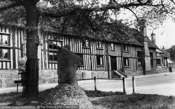 Photo of Standon, Mounting Stone and School c1965