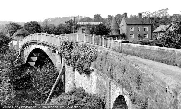 Stanford Bridge,the Bridge and Mill Farm c1955,Hereford and Worcester