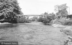 Stanford Bridge, The River And Bridge c.1960