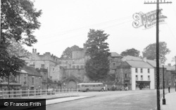 Stanhope, Market Place And Castle c.1955