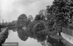 River From Bridge 1929, Stanstead Abbotts