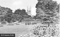 Stapenhill, Gardens And Church c.1955