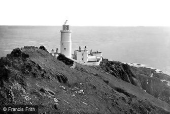 Start Point, Lighthouse from the Ridge 1890