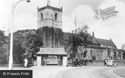 Parish Church c.1950, Staveley