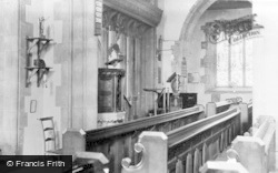 Parish Church Interior Showing Miner's Lamp c.1950, Staveley