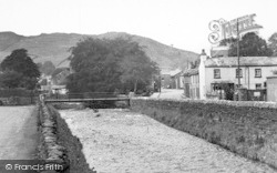 Staveley, River Gowan And Main Street c.1955
