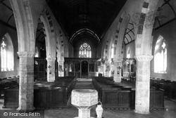 Staverton, Church Interior 1889