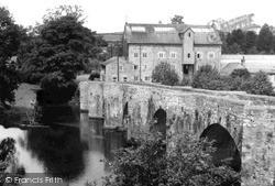 Staverton, River Dart And Old Bridge c.1950