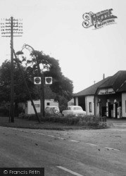 Staverton, Warwick Road Filling Station c.1955