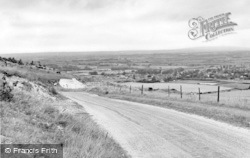 Steyning, General View From The Downs c.1955