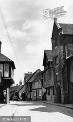 Steyning, Grammar School And Church Street c.1960