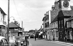 Steyning, High Street And Clock Tower c.1960