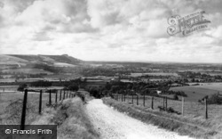 Steyning, The Downs From The East c.1960