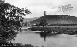 Stirling, Abbey Craig And Wallace Monument 1899