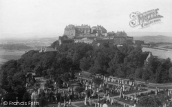 Stirling, Castle And Cemetery From Ladies' Tower 1899
