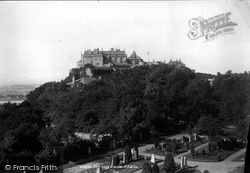 Stirling, Castle From Ladies' Rock 1899