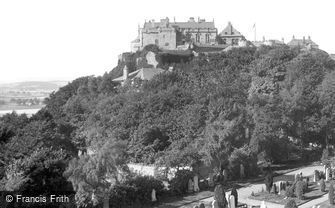 Stirling, Castle from Ladies Rock 1899