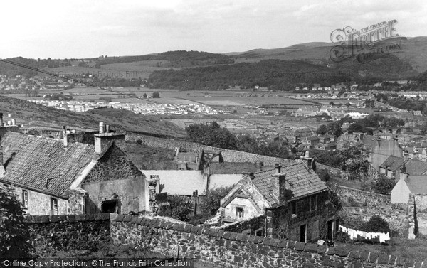 Stirling, view from Castle c1955
