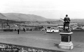 Stirling, view from Castle Ramparts c1955