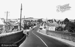 Stockbridge, View From The Bridge c.1955