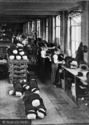 Stockport, Workers At Battersby Hat Works, Offerton c.1910