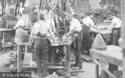 Stockport, Workers, Battersby Hat Works, Offerton c.1910