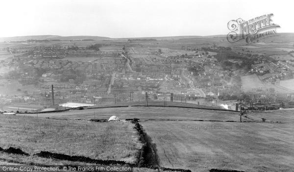 Photo of Stocksbridge, From Green Moor c.1955